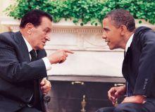 Former Egypt President Hosni Mubarak along with US President Barack Obama.