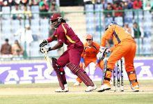 West Indies batsman Chris Gayle en route to his 80