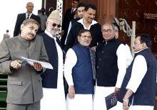 Naseev Pathan, Sharad Yadav, Digvijay singh and Rajya Sabha member Rajiv Pratap Rudy