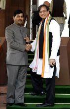 Syed Shahnawaz Hussain and Shashi Tharoor