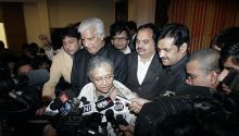 Sheila dikshit and Delhi Cabinet ministers