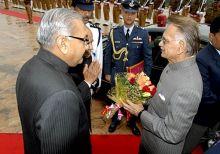 Rajasthan Governor Shivraj Patil and Speaker Deependra Singh Shekhawat