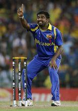 Sri Lankan bowler Muttiah Muralitharan