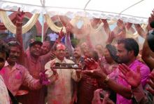 Holi celebrations in Bhopal, Madhya Pradesh CM celebrates Holi