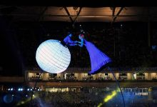 Indian artists perform during the opening ceremony of the Indian Premier League