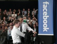 Barack Obama and Mark Zuckerberg