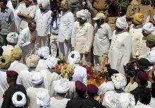 Maharaja of Jaipur Bhawani Singh cremated in Jaipur.