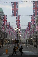Union Flags, Regent Street, London, Prince William, Kate Middleton