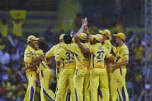 Members of the Chennai Super Kings
