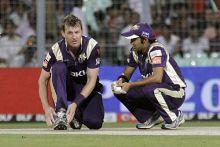 Kolkata captain Gautam Gambhir and Brett Lee