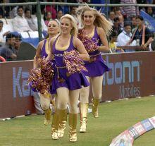 KKR cheer girls during RR vs KKR in Jaipur