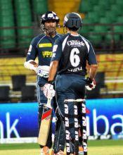 Kumar Sangakkara with Bharat Chipli