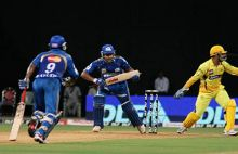 Ambati Rayudu (left) and Rohit Sharma