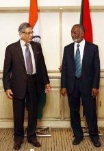 External affairs minister S. M Krishna, Sudanese Foreign Minister Ali Ahmed Karti