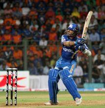Mumbai captain Sachin Tendulkar on way to his 100 not out