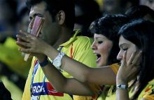 Chennai captain MS Dhoni's wife Sakshi