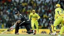 Pune batsman Robin Uthappa is bowled out by Chennai bowler R Ashwin