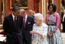 Barack Obama with Queen Elizabeth II