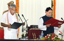 Oommen Chandy sworn in as Kerala CM