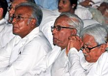 Left Front leaders at Mamata Banerjee's swearing-in ceremony