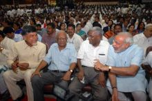 TDP chief N. Chandrababu Naidu, CPI General Secretary A.B. Bardhan and Gujarat chief minister Narendra Modi