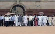 BJP President Nitin Gadkari, Sushma Swaraj