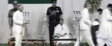 Mamata Banerjee at the Raj Bhavan
