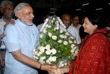 Narendra Modi with Jayalalithaa