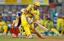 Chennai batsman Suresh Raina on way to his 73 not out
