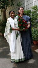 Mamata Banerjee meets sonia Gandhi in New Delhi.