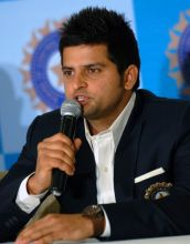 Suresh Raina during a PC