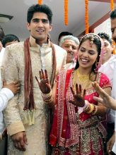 Vijender Singh ties the knot with Archana