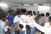Congress supporters ransack party office
