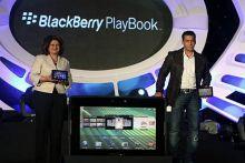 Salman launches BlackBerry PlayBook