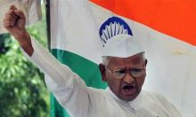 Anti-corruption activist Anna Hazare