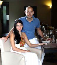 Andrea Aftab and Pia Pauro at Baci.
