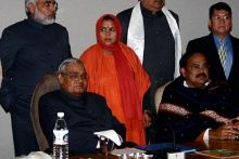 Uma Bharti is seen attending the Chief Minister's meet in New Delhi
