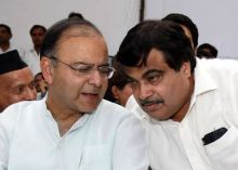 Arun Jaitley with BJP President Nitin Gadkari