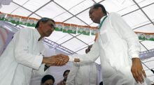 Rajasthan Chief Minister Ashok Gehlot and RPCC president Chandrabhan