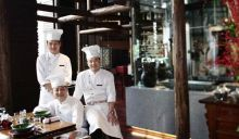 Chef Zhang Hao, chef Dong Long and chef Clarence at China Kitchen, New Delhi.