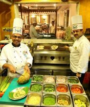 Chef CB Shankaran with his team at Dakshin, New Delhi.