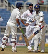Virat Kohli, Rahul Dravid and Ravi Rampaul
