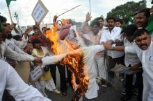 Protest against fuel price hike in Patna