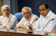 Salman Kurshid, Kapil Sibal and P Chidambaram