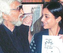 MF Husain with actor Tabu