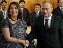 Nirupama Rao and Salman Bashir