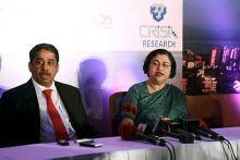C. Jayaram with Roopa Kudva