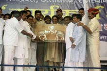 Mayawati with other party leaders