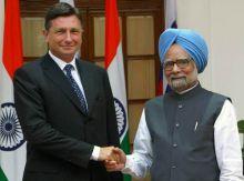 Manmohan Singh, Borut Pahor
