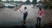 Waterlogged Kolkata city